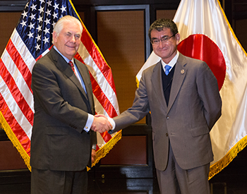 Minister Kono and Rex Tillerson